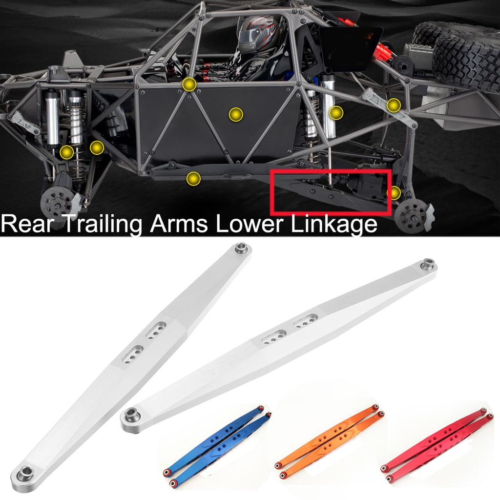 Rear Trailing Arms Lower Linkage for TRAXXAS Unlimited Desert Racer UDR Aluminum RED