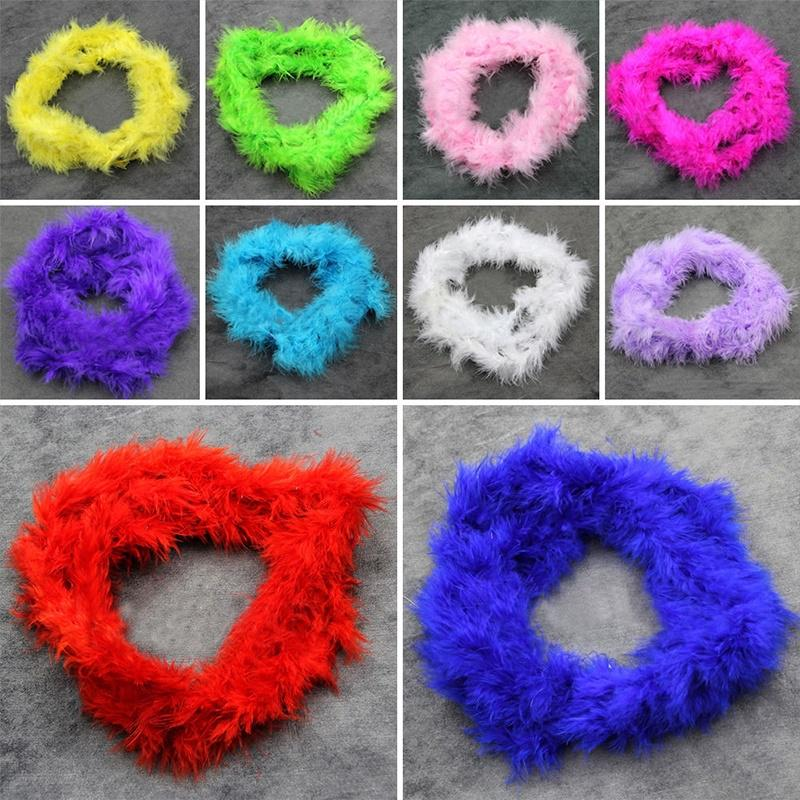 2M Feather Boa Strip Fluffy Craft Costume Hen Night Dressup Wedding Party Band
