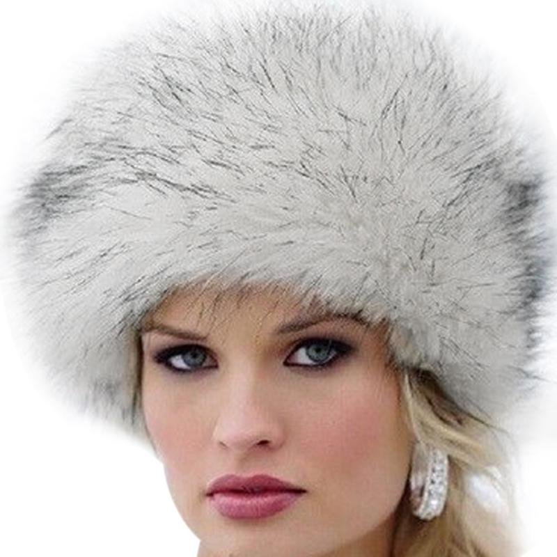 0a68e65e7 New Fashion Winter Faux Women Fur Cap Fluffy Fox Hats Headgear Outwear  Girls Beanies-buy at a low prices on Joom e-commerce platform