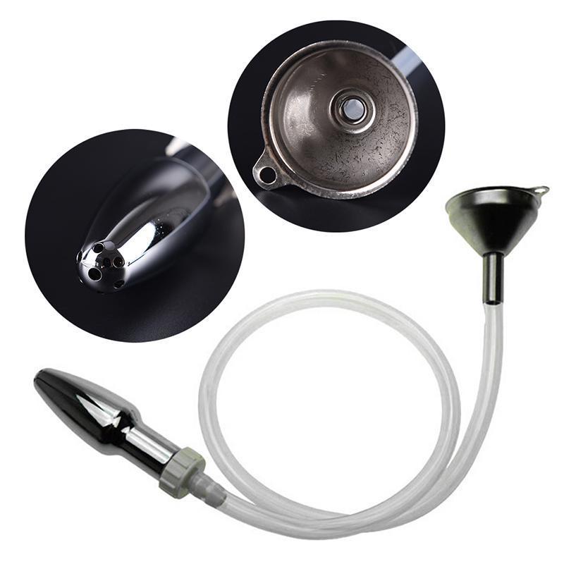 Metalltrichter Einlauf Anal Reinigung Kit Vaginal Anal