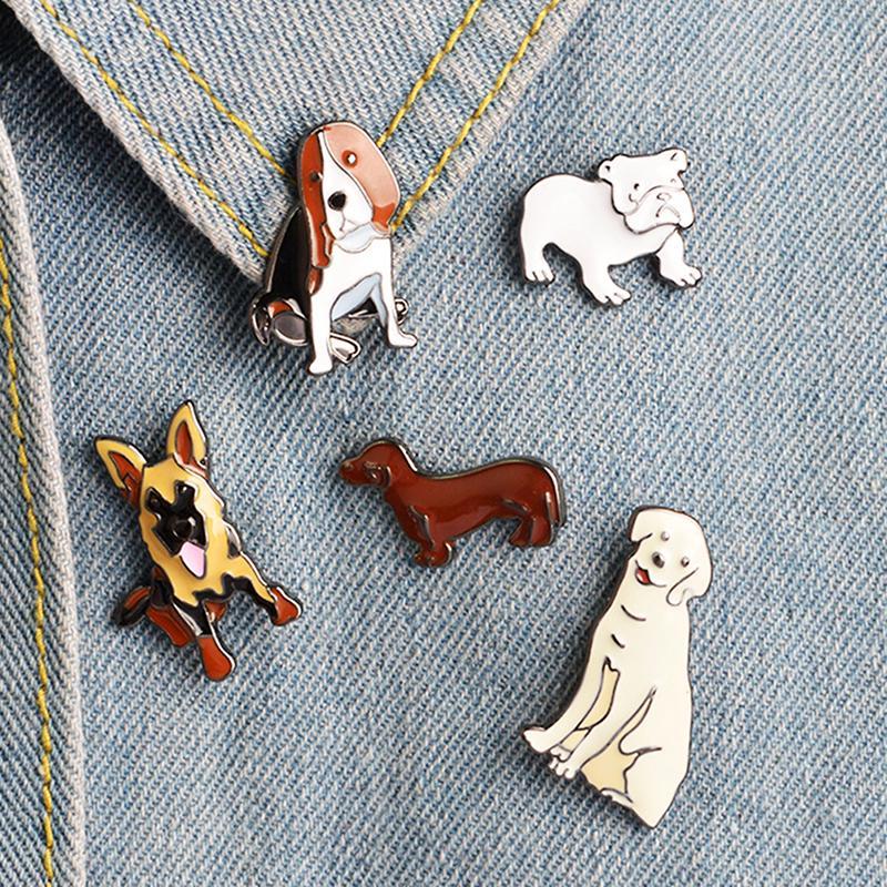 Cute Enamel Piercing Brooch Pins Shirt Collar Pin Breastpin Women Jewelry Gift