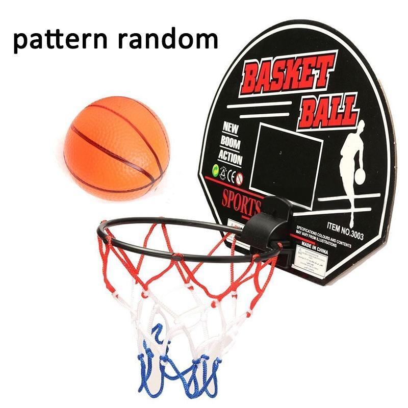 Wall Mounted Mini Hoop Basketball Net Ball Set Kids Indoor Palying Game Toy