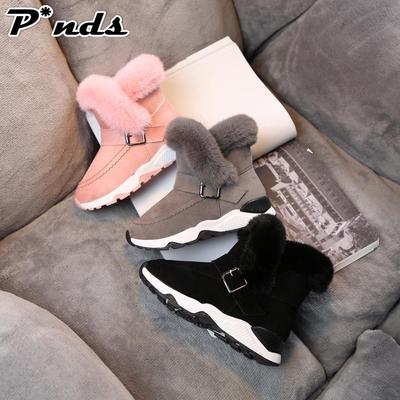 Kids Baby Infant Boys Girl Child Fur Flock Winter Bootie Warm Snow Shoes Boots 9