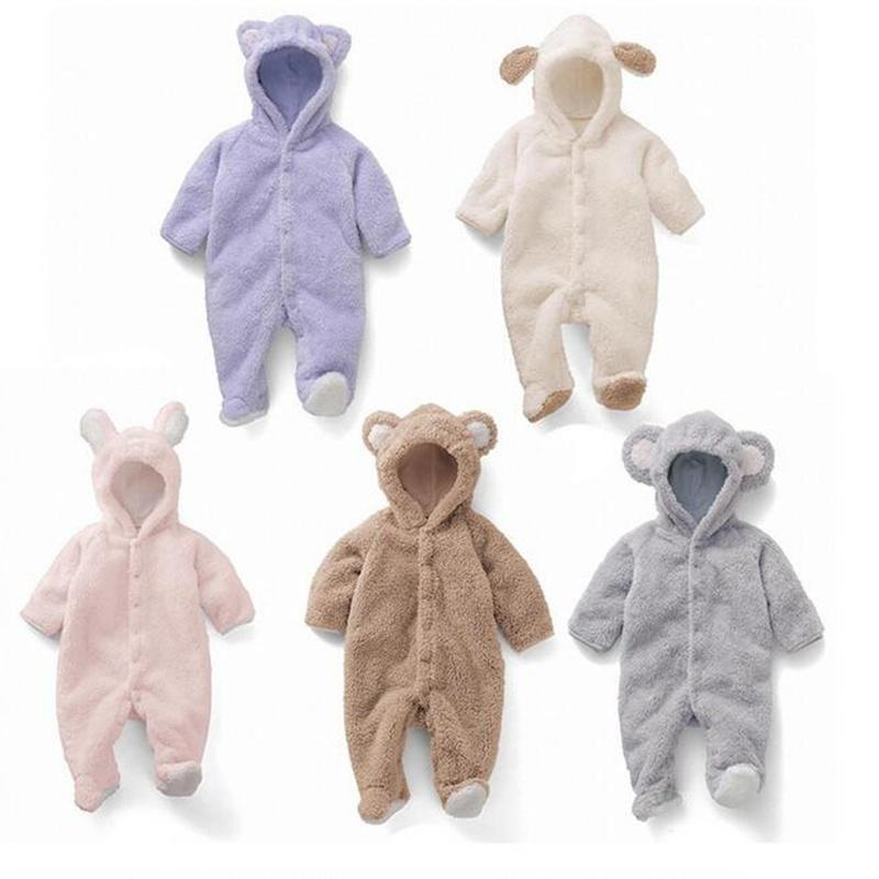 376051f35 New Fashion Cute Baby Beautiful Romper Coral Fleece Romper with Tail ...