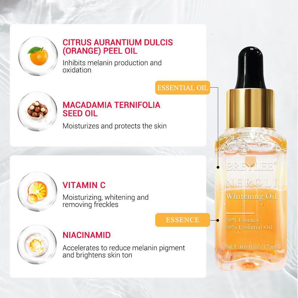 Neroli Whitening Essential Oil Fade Dark Spots Remove Face Freckles  Brighten Moisturizer Skin Serum