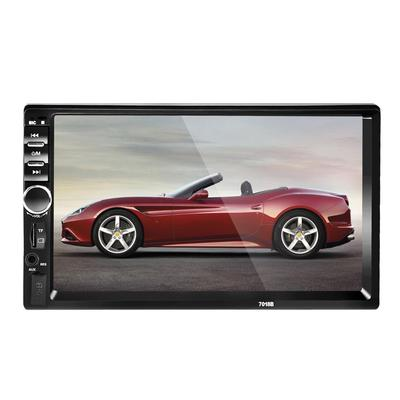 Double Din Car Stereo 7 Inch Capacitive Touch Screen in Dash Headunit MP5 Player Support USB//SD//AUX-in//FM//AV-in//GPS Navigation//Colorful Button with Free Wireless Remote Control