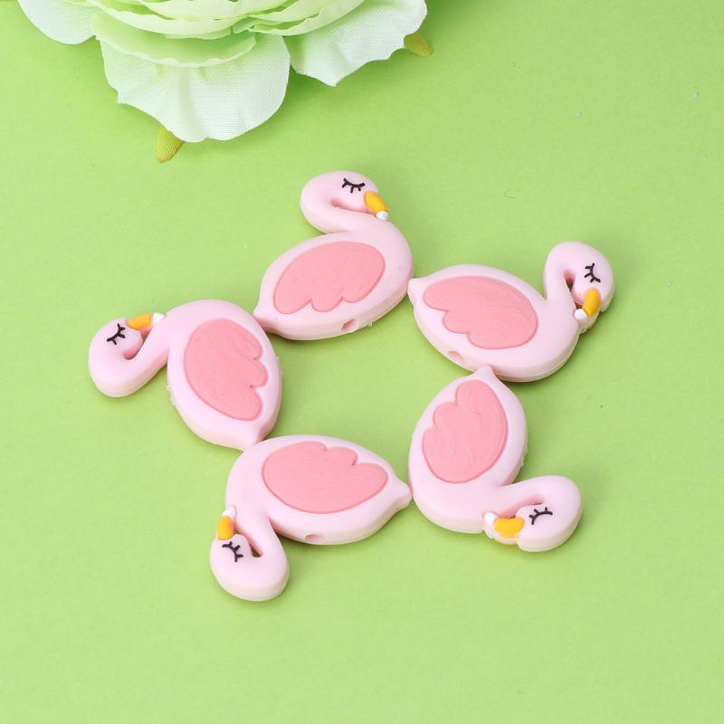 Silicone Beads Flamingo Cute Funny DIY Jewelry Making Baby Teether Toys Teething