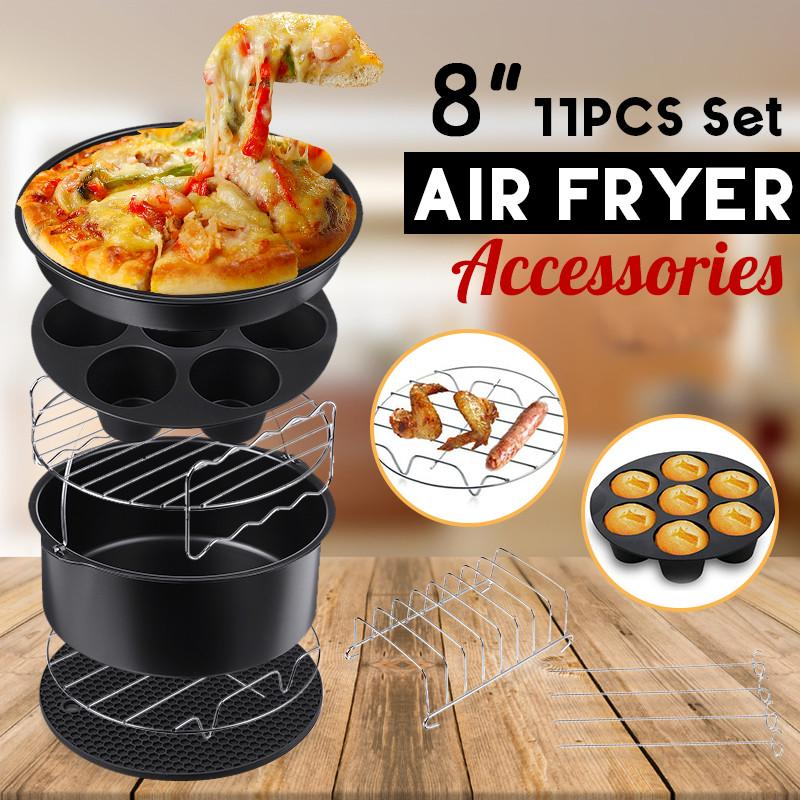 Air Fryer Accessories Frying Baking Tool Bread Non-stick Tray Rack Non-stick