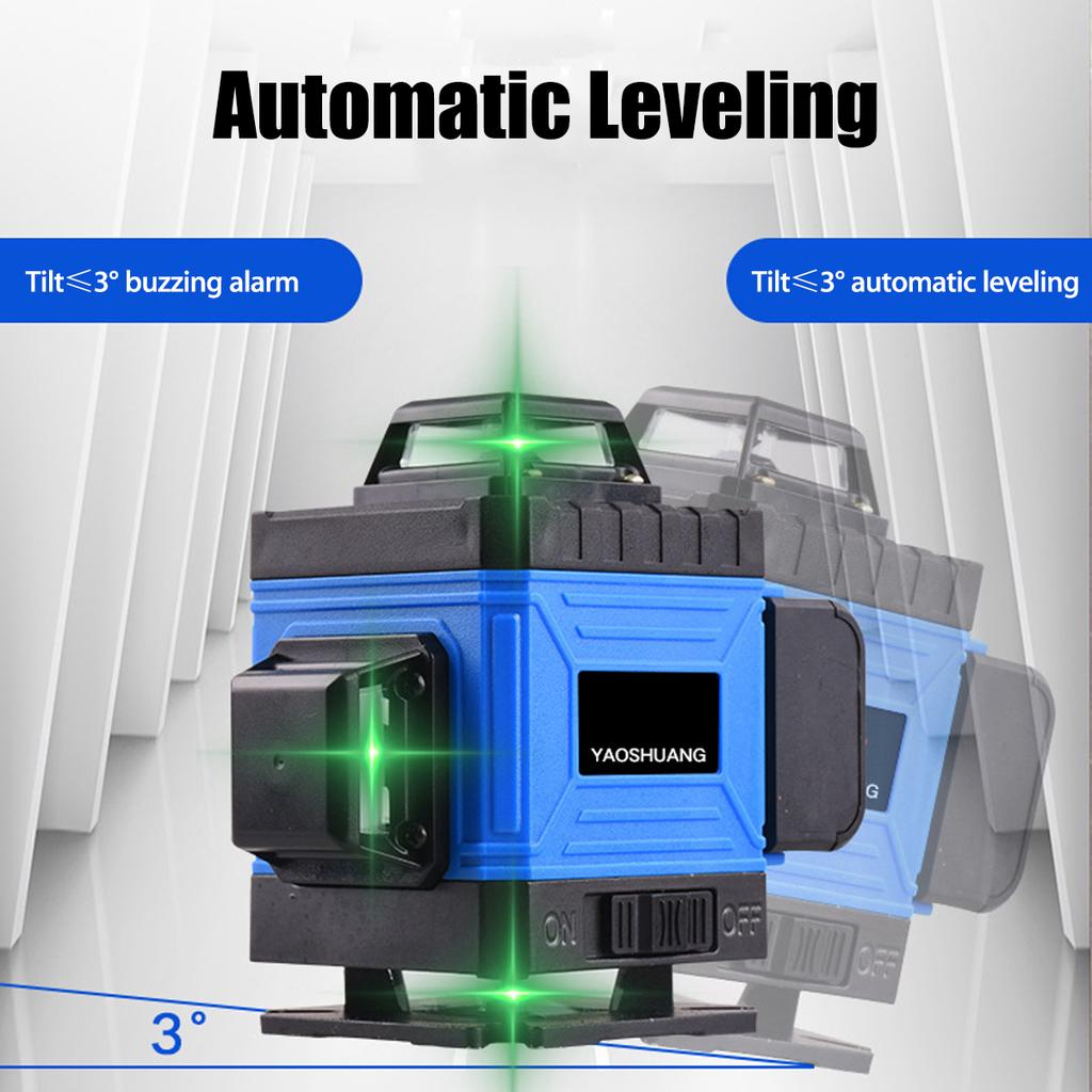 Laser Level 8 12 16 Lines 2d 3d 4d Self Leveling 360 Horizontal And Vertical Cross Super Powerful Green Laser Beam Line Buy At A Low Prices On Joom E Commerce Platform