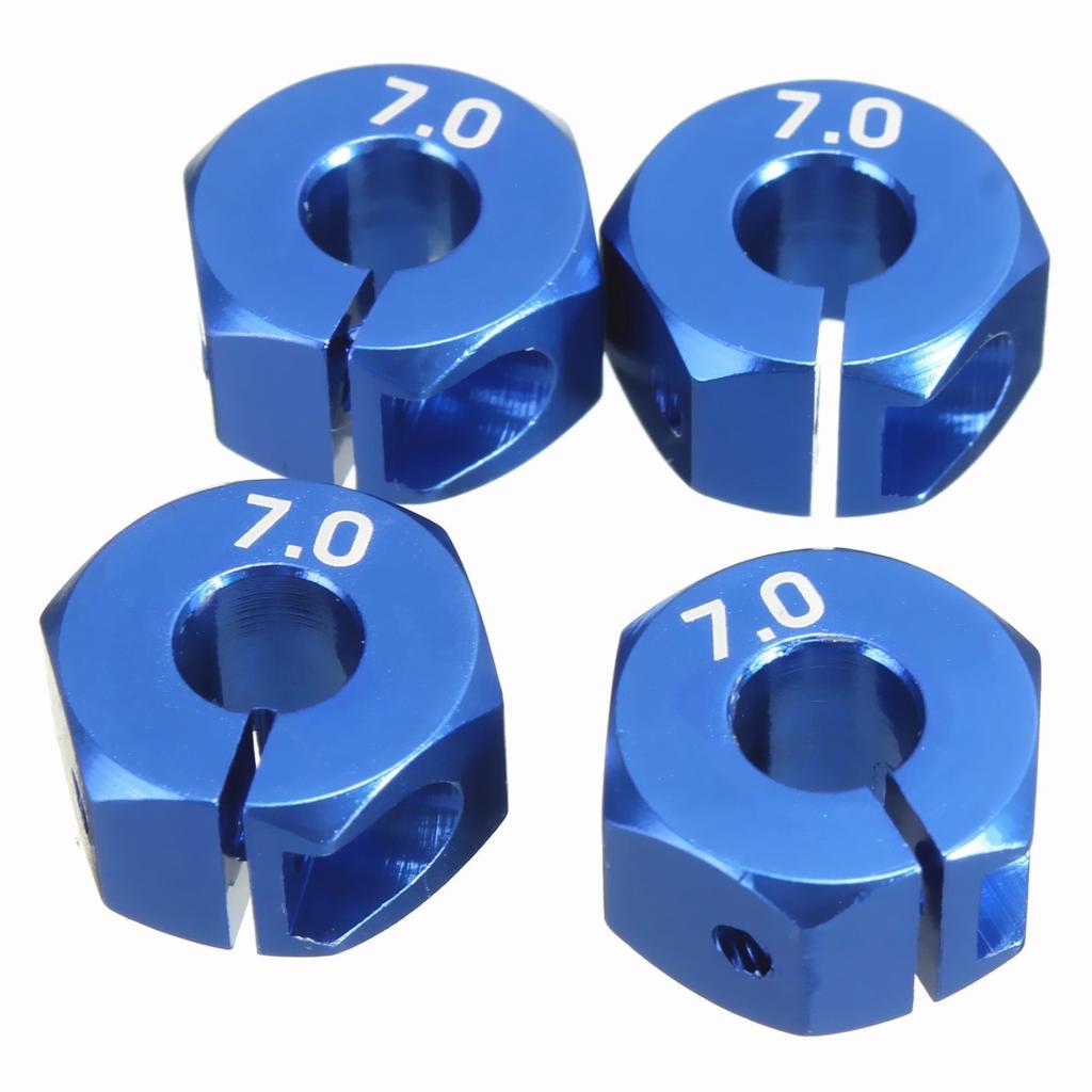 RC Blue Aluminum 7.0 Wheel Hex 12mm Drive,Pins /& Screws 4P HSP HPI Tamiya Car UK