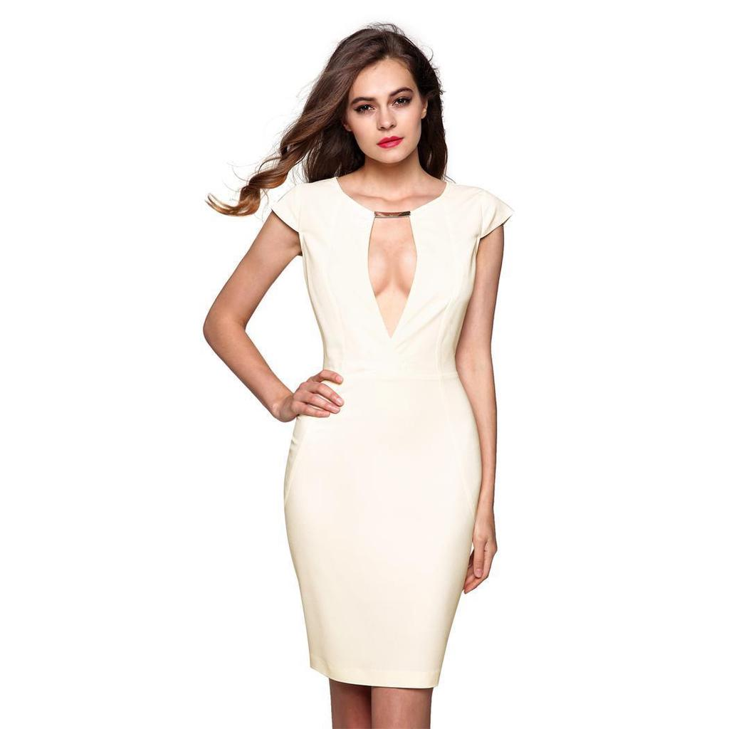 Generic Womens Floral Bodycons Midi Dress Sleeveless Scoop Neck Pencil Slim Dress