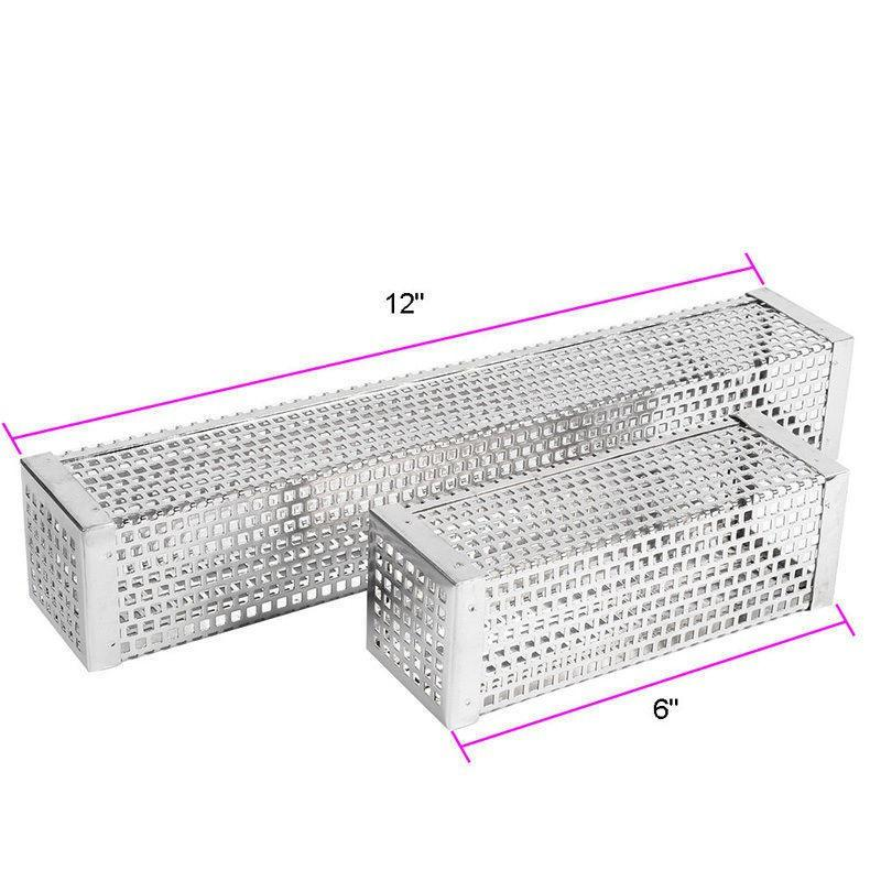 """Pellet Tube 6/""""//12/"""" Pipe Steel Bbq Accessories Smoker 6/'/'//12/'/' Stainless Camping"""