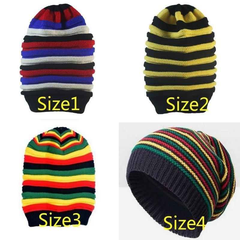 Moda Reggae jamaicano tapa sombrero Rasta Slouchy Baggie Beanie ...