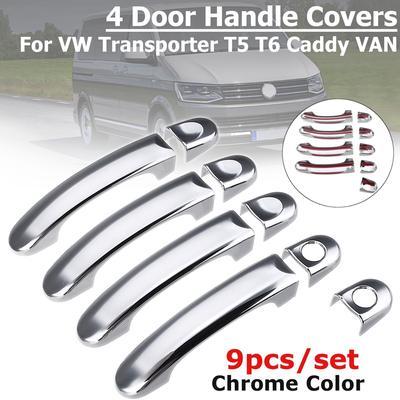 T5 Transporter//Caddy ABS Cromo Manijas de las puertas de acero inoxidable 8PCS Set