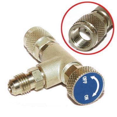 1/4''-1/4'' Flow Control Valve for Refrigerant Charging Hose