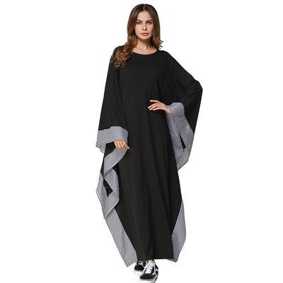 7d93e4be5 Las mujeres elegantes Ramadán islámico moderado ligero punto Jersey vestidos  Vestido de cómodo