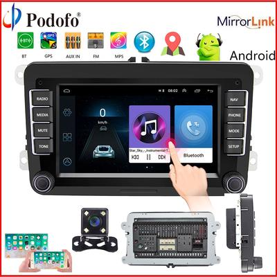 Android 2Din GPS Car Stereo Radio Touch Screen Car MP5 Player with