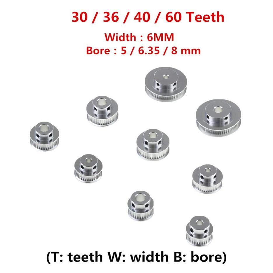 GT2 Timing pulley 30 Teeth Bore 10mm for 6mm Belt for RepRap 3D printer LW 30T