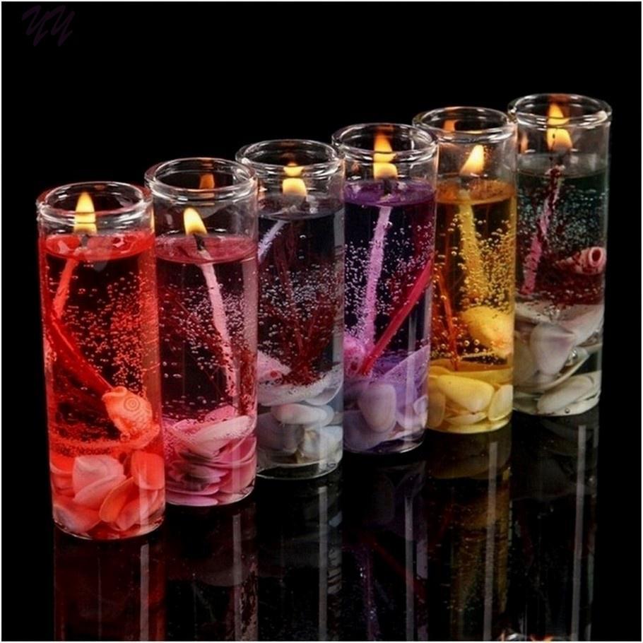Brieftaschen Und Halter 1 Pcs Romantische Ozean Muscheln Gelee Ätherisches Öl Duft Kerzen Aromatherapie Rauchfreien Kerzen Hochzeit Kerzen Farbe Zufällig
