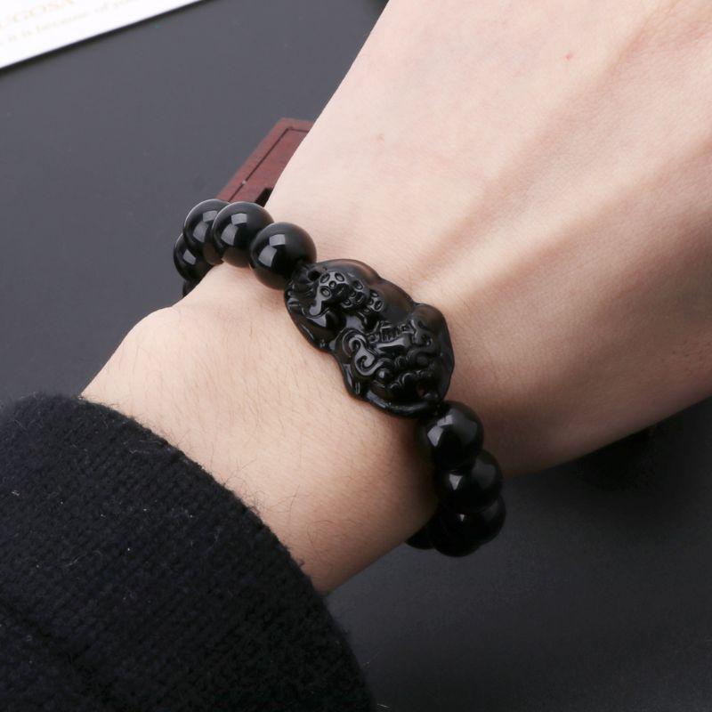 Фэн-шуй обсидиан каменные богатства Pi Xiu браслет привлекают и удачи