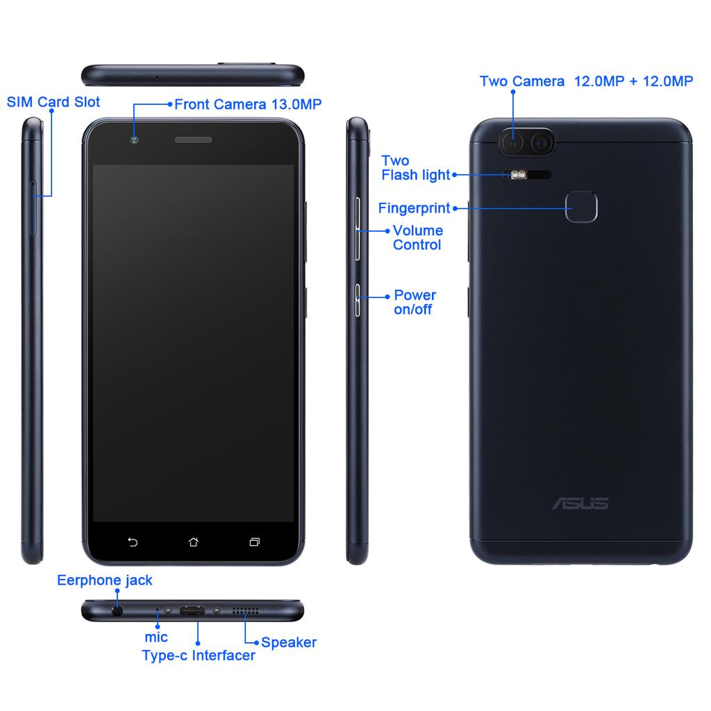 Asus Zenfone 3 4gb Ram 128gb Rom Buy At A Low Prices On Joom E 2 Ze551ml 32gb 1 Of 6