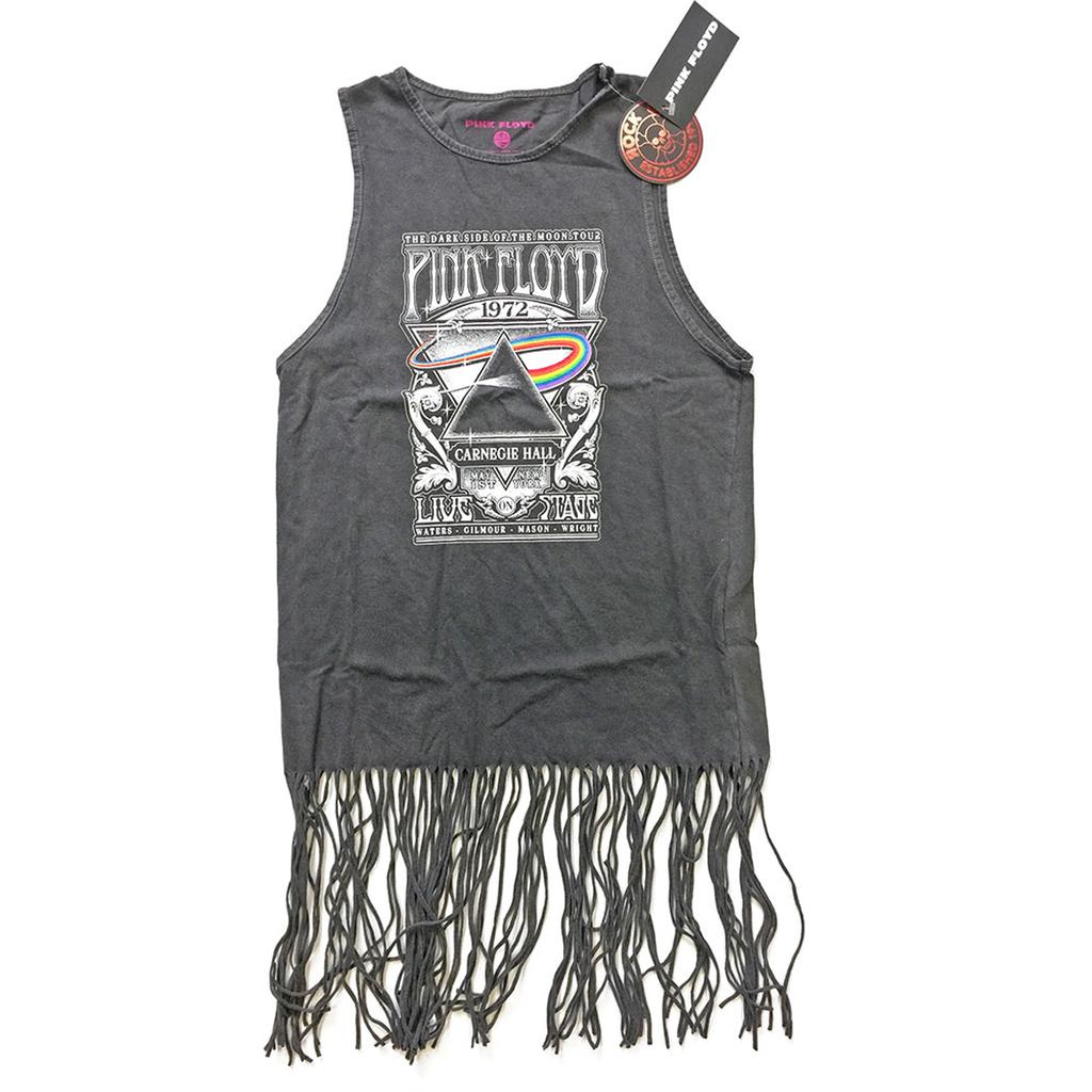 Ladies Pink Floyd Carnegie Hall Tassel Dress Official Tee T-Shirt Womens