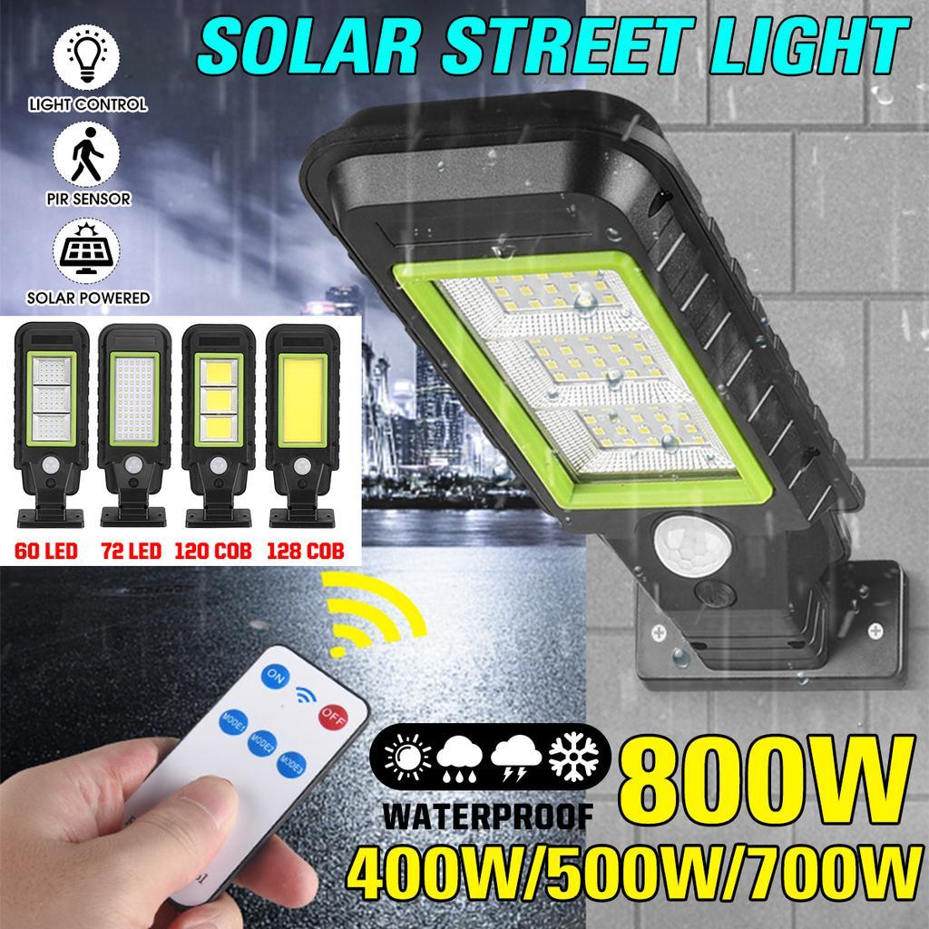 IP65 Remote Control Solar Street COB Light PIR Motion Sensor Induction Wall Lamp