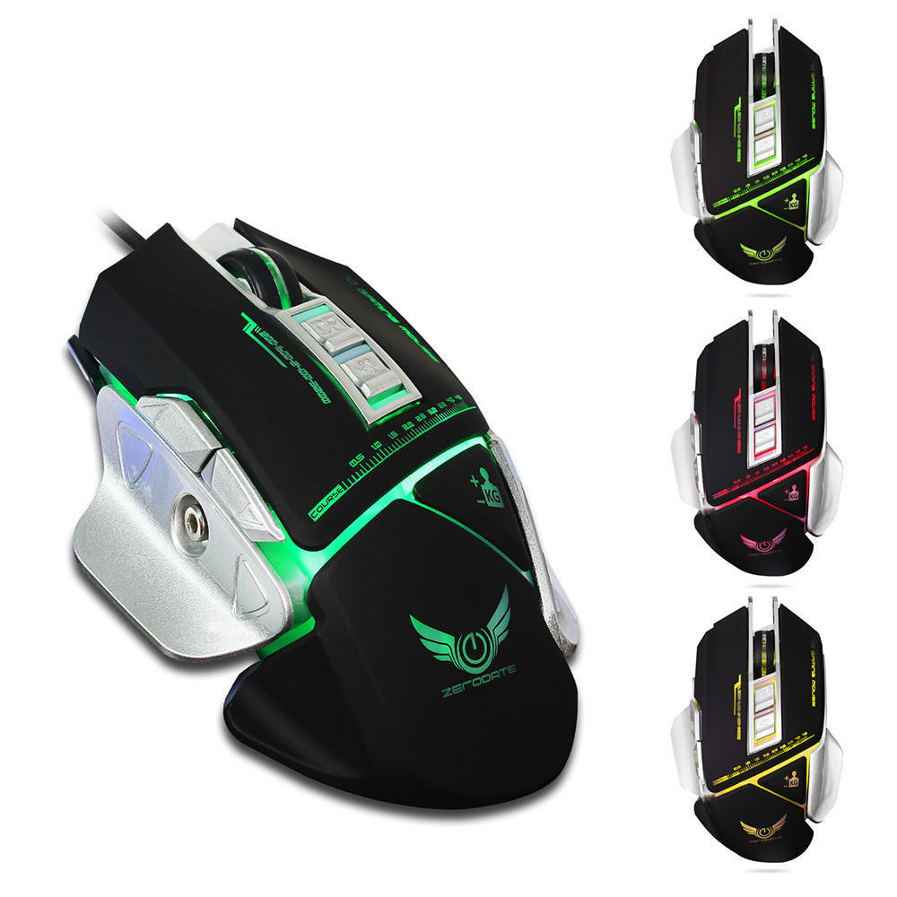 New ZERODATE X400 3200DPI Optical Wired Gaming Mechanical Mouse For Tablet  Laptop PC