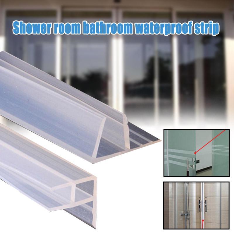 F U H Shape Glass Door Tape Sealing, Glass Shower Door Rubber Seal Strip