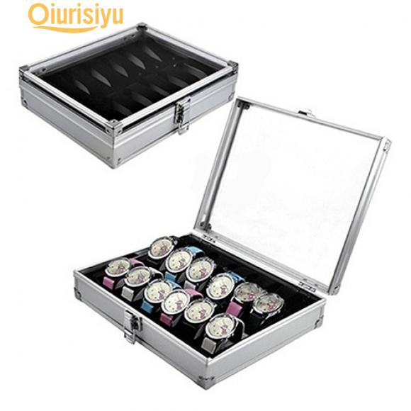 bbe2453bb 6/12 rejilla ranuras joyas relojes aluminio aleación almacenamiento ...