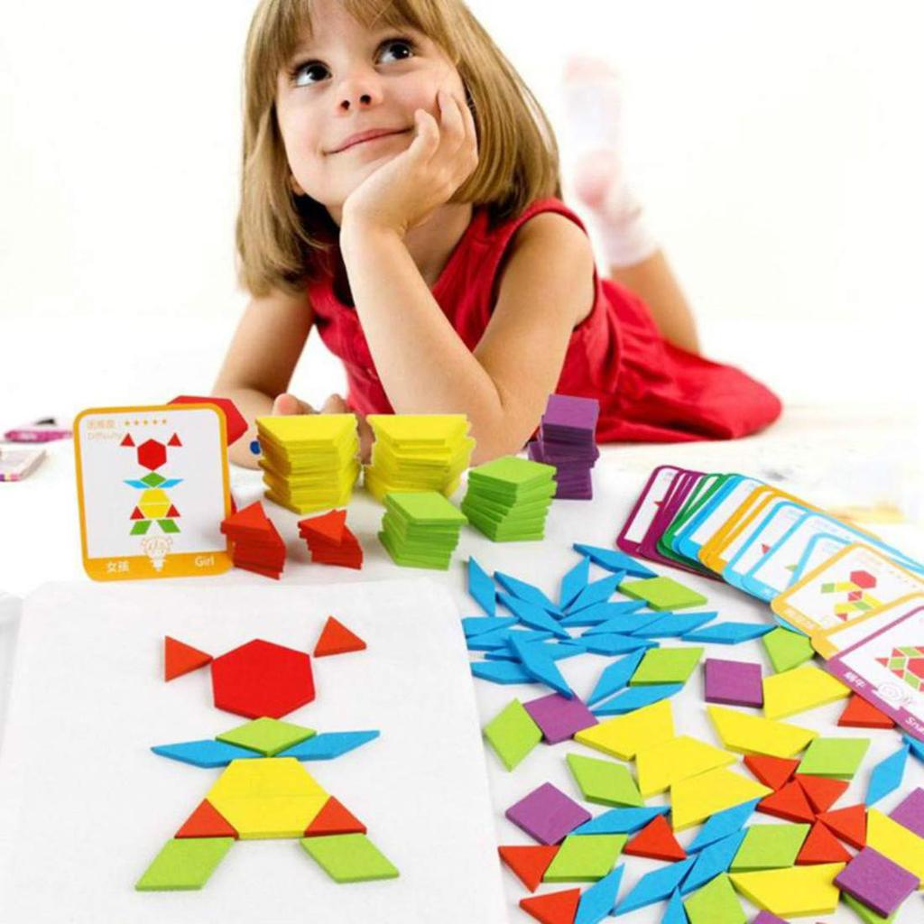 Buy 155 PCS Creative Puzzle Games Educational Toys For Children Jigsaw  Puzzle Learning Kids Developing Wooden Geometric Shape Toys at affordable  prices, price 10 USD — 📦free shipping, ⭐real reviews with photos — Joom