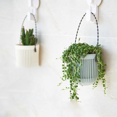 Twórczy Plastikowy Doniczka Na ścianę Wiszący Na Kwiat Doniczkowy Ogródek Na Balkonie Hot