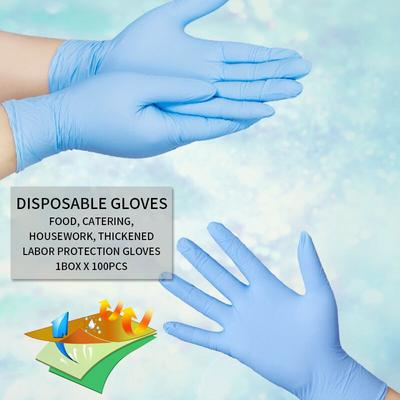 Multi Use Powder Free Latex Free Durable Stretchy Transparent for Pet Care//Labor//Healthcare//Food Handling//Dental//Tattoo Protective M Becobe 50Pcs Disposable Clear Gloves
