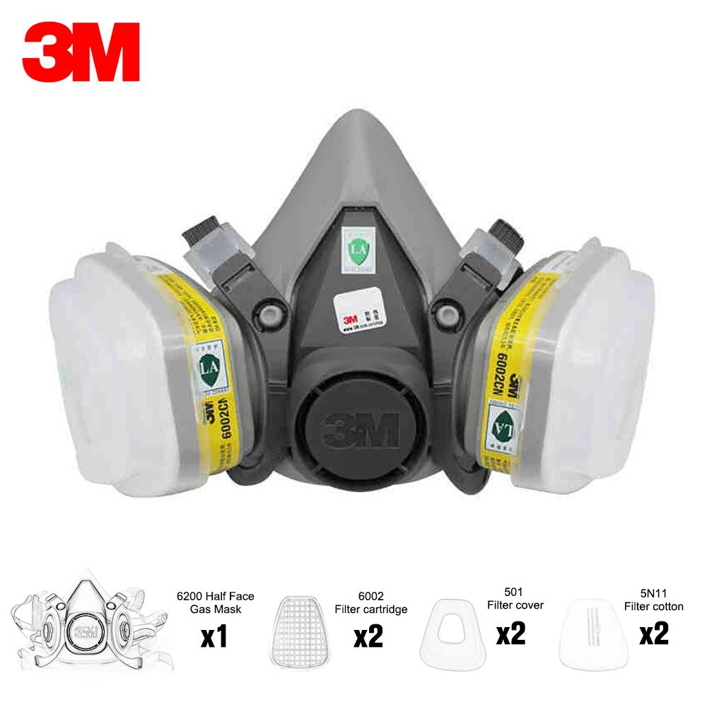 3m spray paint respirator half-mask 6002c