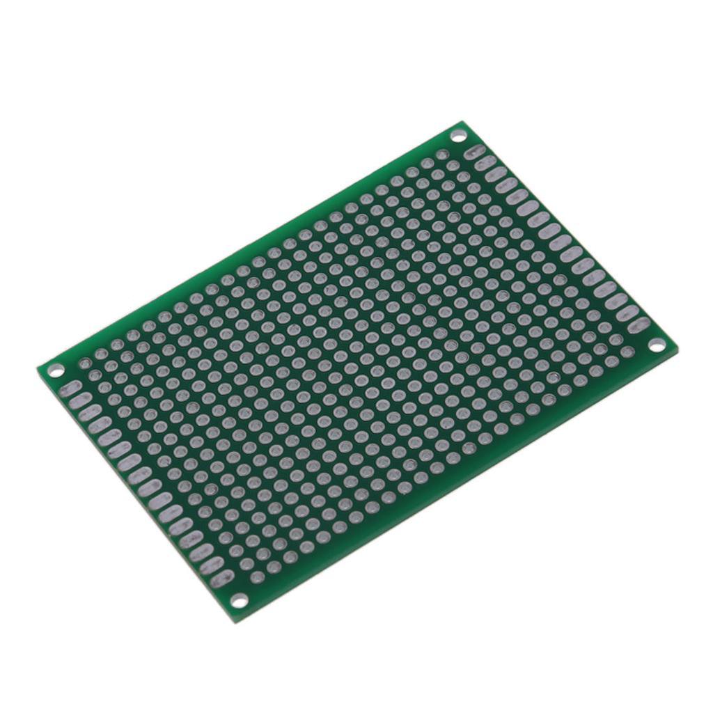 1 5 10 Double Side 5x7cm Pcb Strip Board Printed Circuit Vero 12 Pcs Kit Prototyping Stripboard Prototype 2 Of