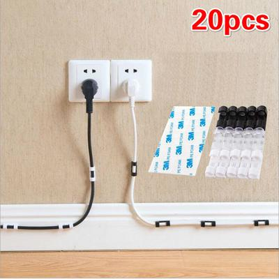 10PCS Cables Drop Clips Ties Cable USB Cable Charger Organizer for Home Office