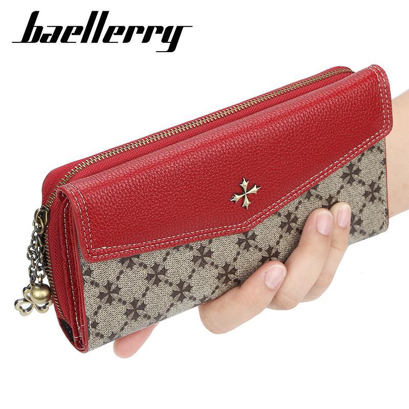 Women Small Wallet PU Leather Card Case Holder Zipper Coin Purse Wristlet Clutch