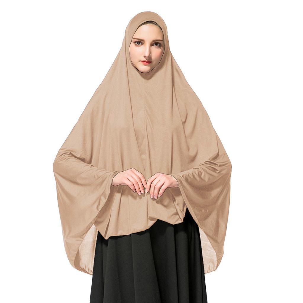 Muslim Women Shawl Veils India Long Hijab Head Scarf Islamic Underscarf Brown