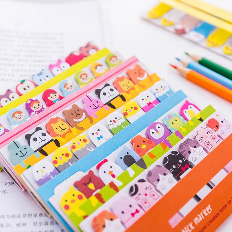 1Pcs Bookmark Memo Mini Animals Sticky Notes Sticker Point It Marker Flags Pocke