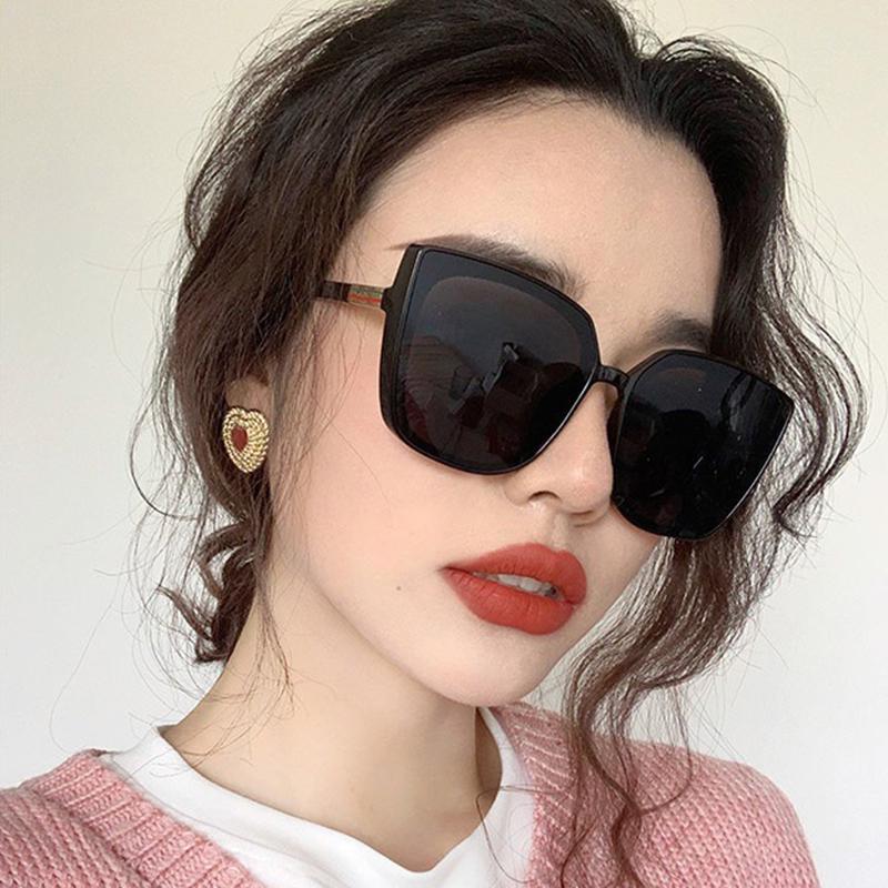 Модные большие квадратные солнцезащитные очки негабаритных женских солнцезащитных очков в стиле ретро UV400 – купить по низким ценам в интернет-магазине Joom
