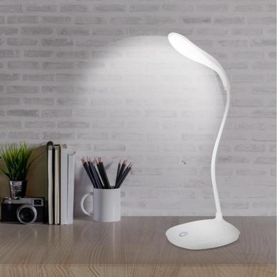 USB Flexible Neck LED Desk Light Dimmable Touch Switch Night