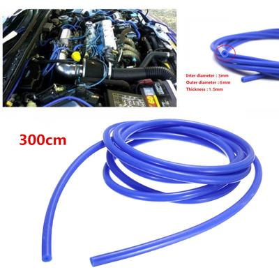 - 3 Feet Universal Motorcycle Black Rubber Fuel//Oil//Gas Line 6mm 1//4