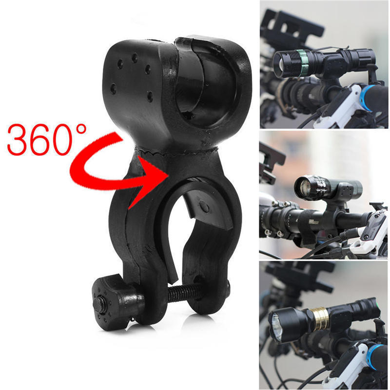 Cycling Bicycle Led Flashlight Holder Front light Mount Clip Torch Bracket D/_ BJ