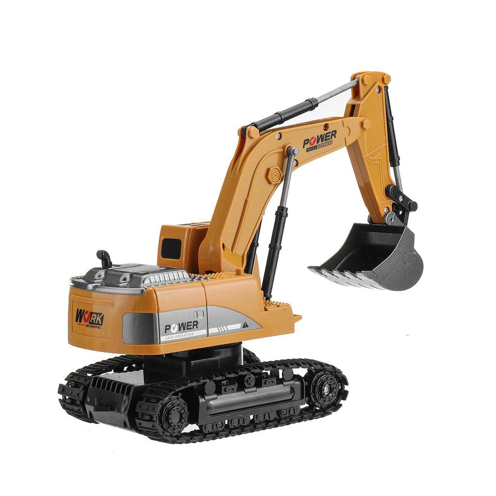 Details about  /Rc 2 4ghz 6 Channel 1 24 Excavator Toys Engineering Car Alloy Plastic Excavtor
