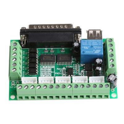 CNC USB MACH3 100Khz Breakout Board 4 Axis Interface Driver
