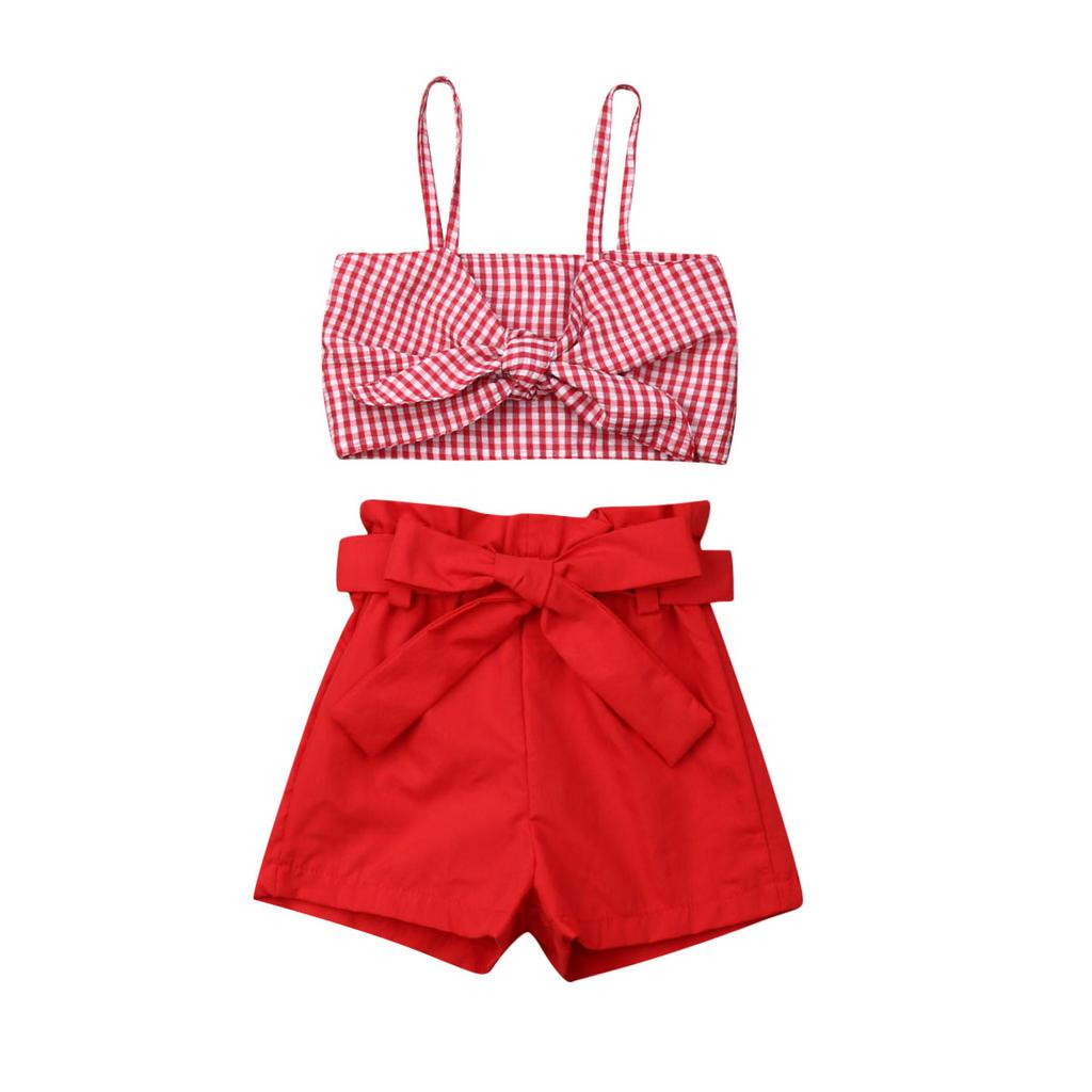 FOCUSNORM Newborn Baby Girls Sleeveless Cotton Linen Tank Tops and Bloomers Outfits Clothes 2Pcs