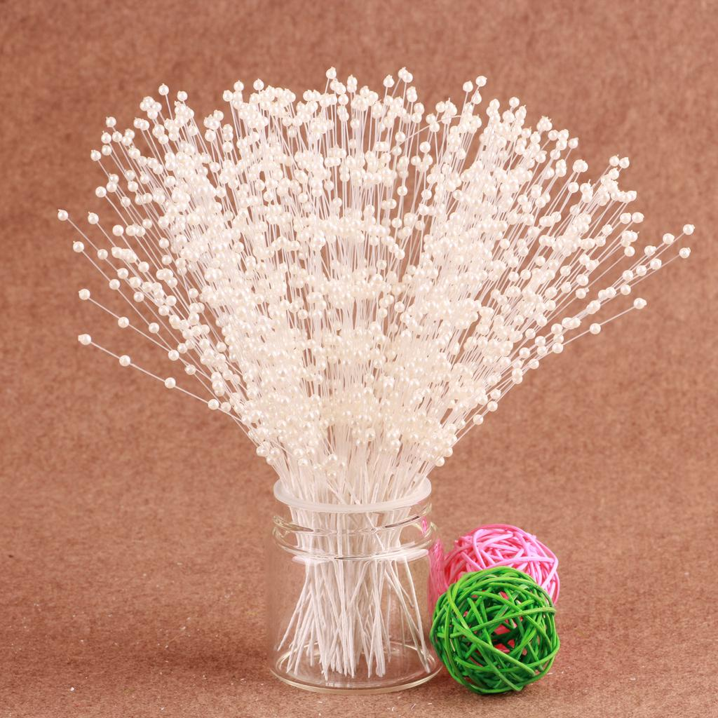 10 STEMS PEARL BEADS SPRAY WEDDING BRIDE FLOWER BOUQUET HOME TABLE DECORATION
