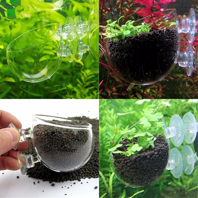 Rośliny Wodne Szklane Doniczki Do Akwarium Aquascaping Fish Tank Crystal Holder