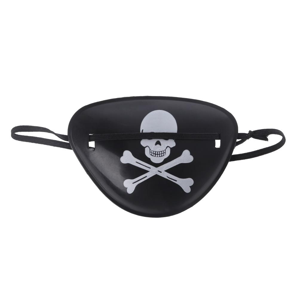 2Pcs Skull Pirate Eye Patch Mask For Halloween Costume Party Kids Children Toy