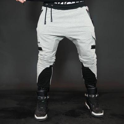 Men Fashion Color Pocket Bodybuilding Workout Jogger Pants Wide Straight Leg Drawstring Trousers Mens Outdoor Striped Shorts
